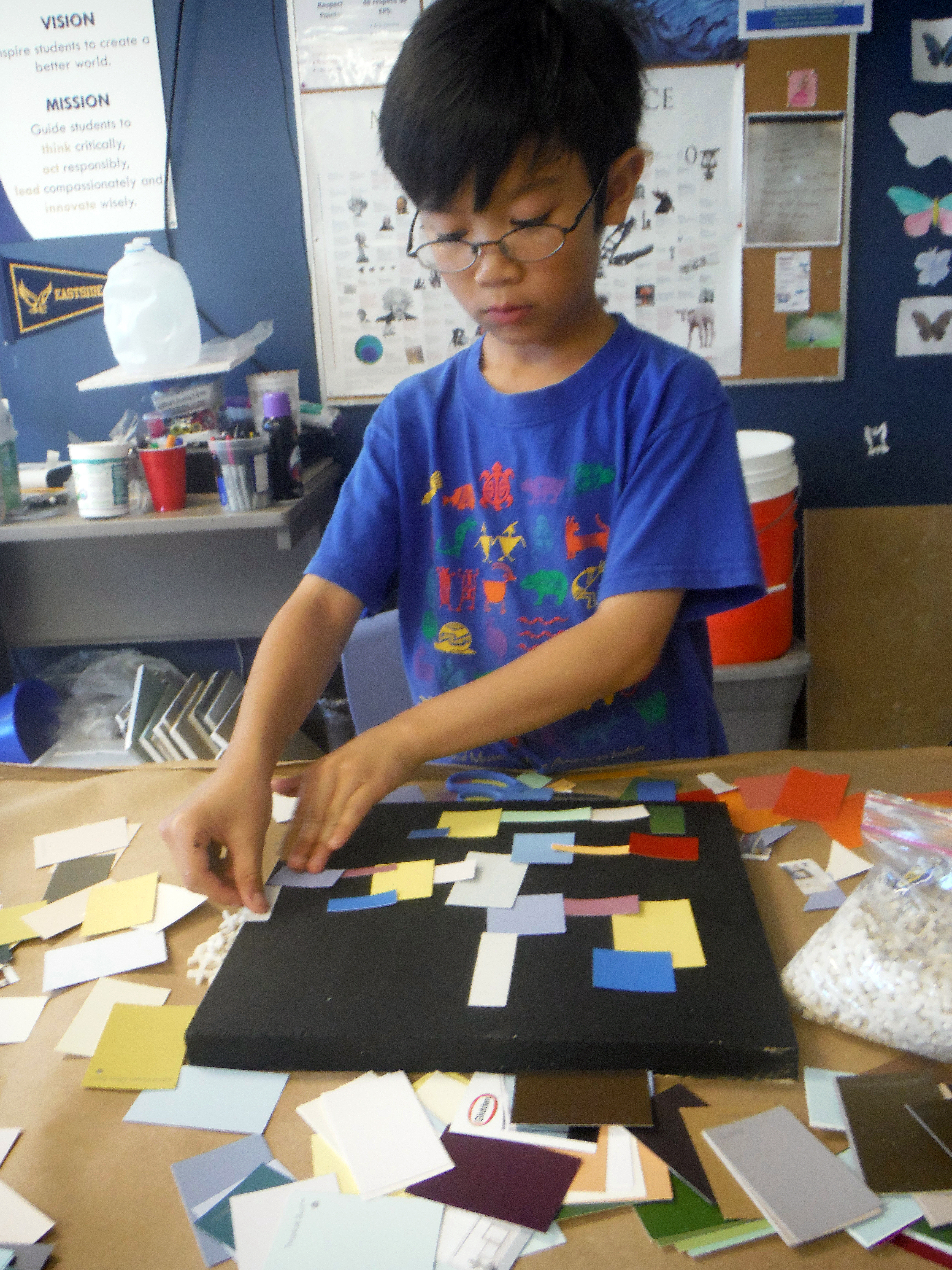 Youth student explores collage