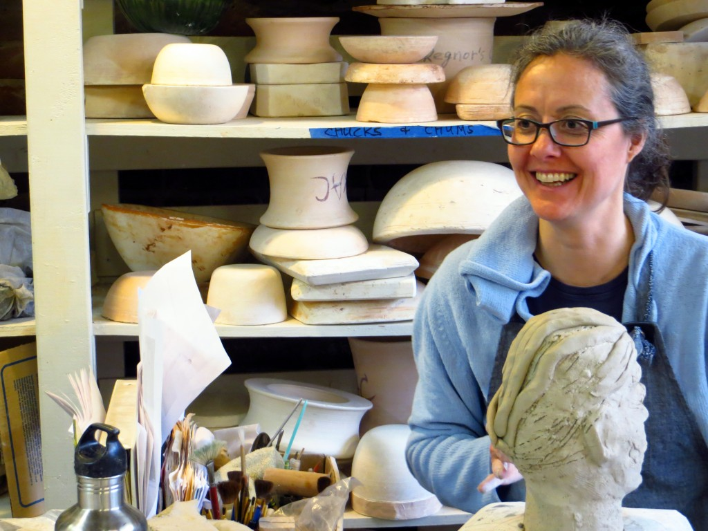 Ceramics student, photo credit Adrian Rembold