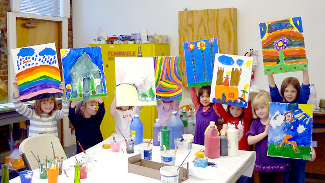 Children's birthday painting art party
