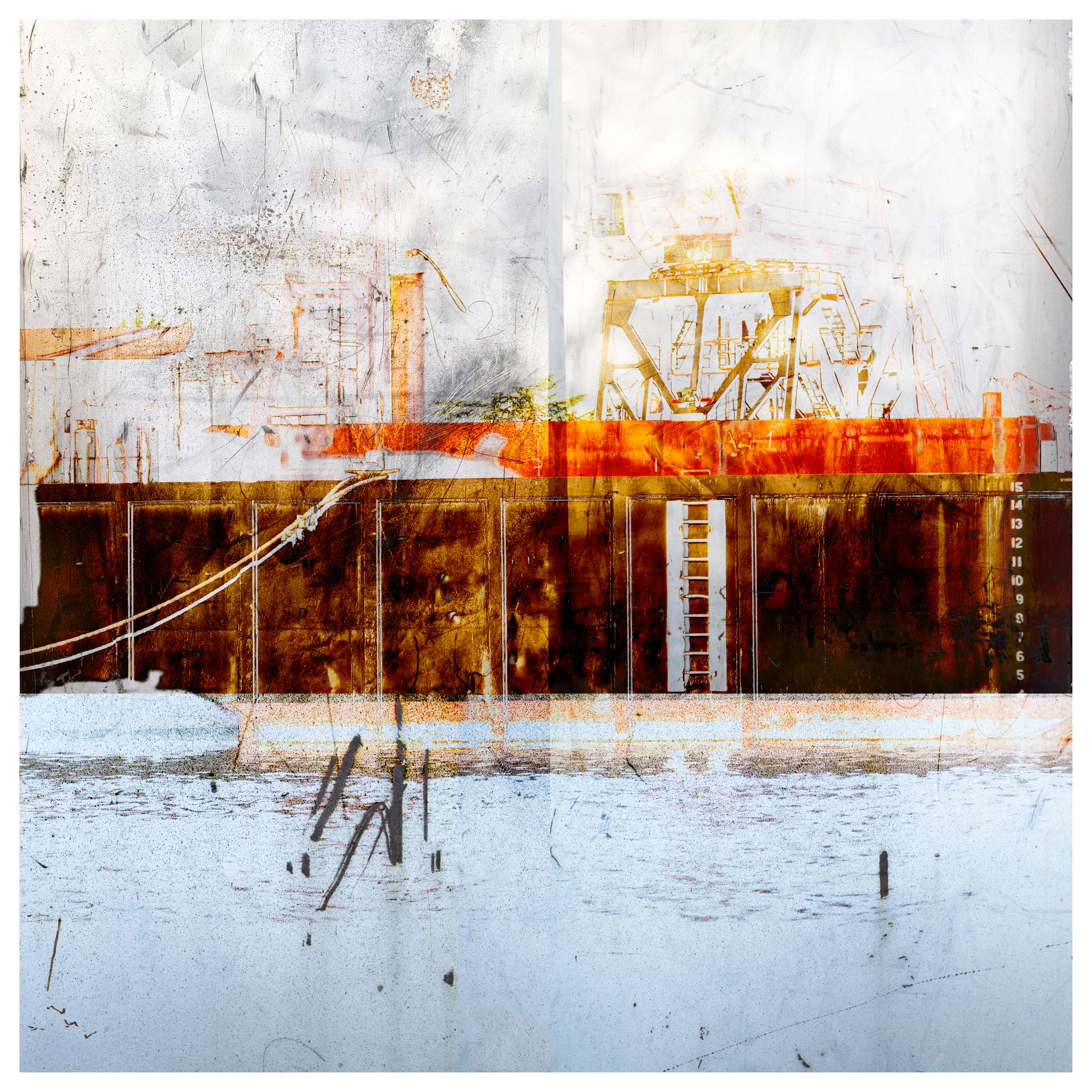 Iskra Johnson, Barge, limited edition archival pigment print-digital collage
