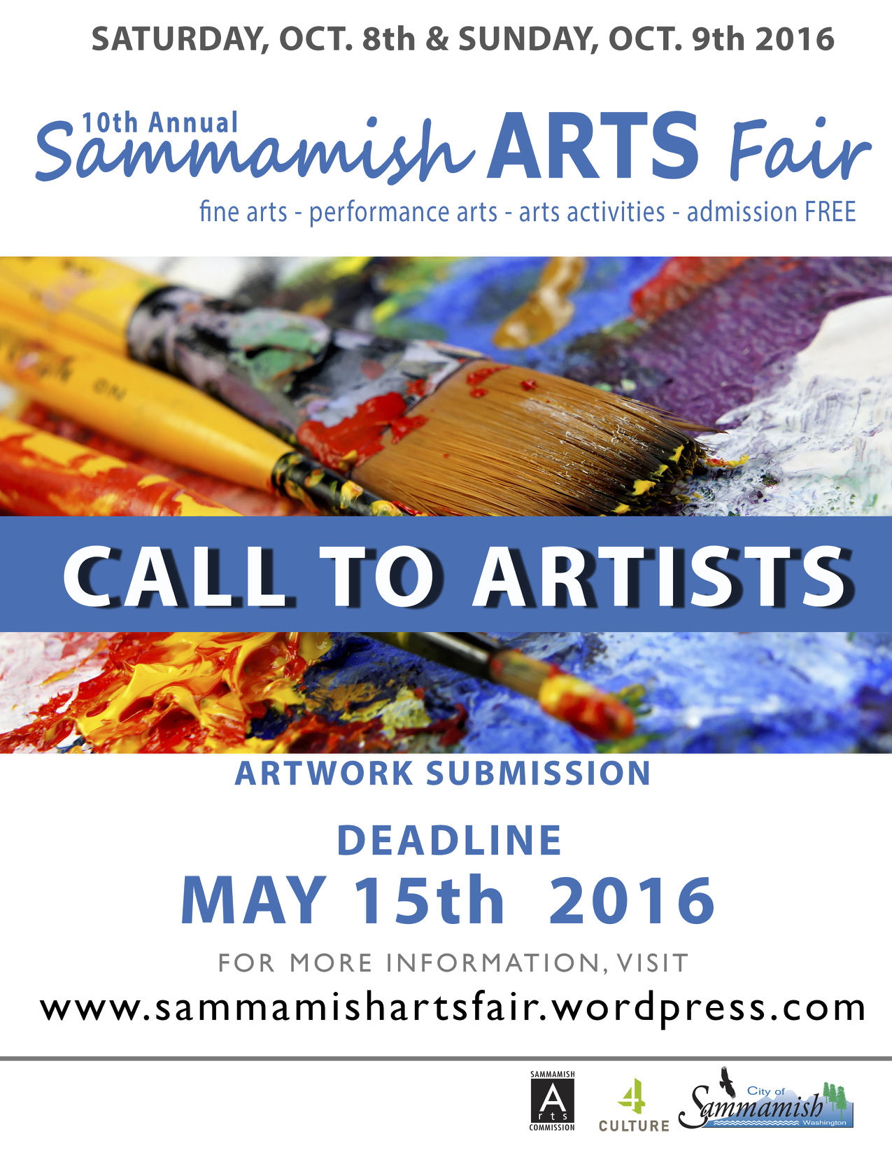 2016 Call For Artist Sammamish Arts Fair